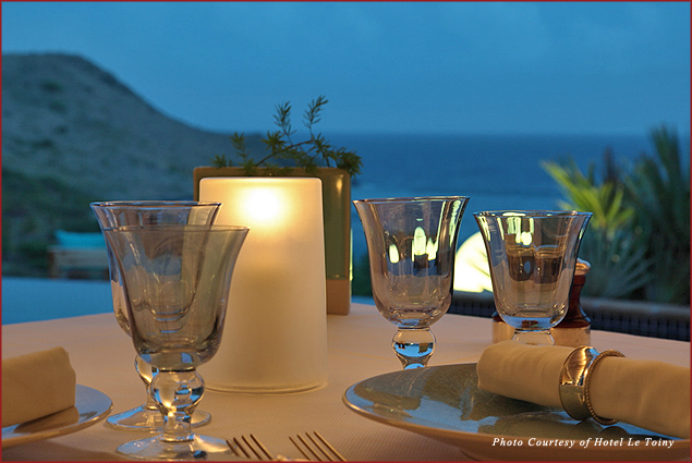 Enjoy private dining at Hotel Le Toiny