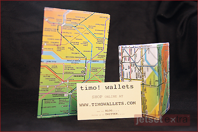 Wallets made from subway maps by Timo Wallets