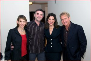 Eileen Blum Bourgade, Alain Bourgade, Vivian Panou, Philip Claypool, owner of Southern Pacific Smoke House opening in May