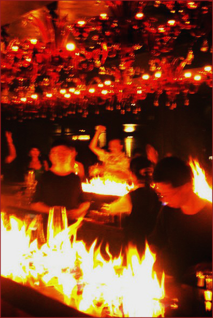 Bar Rouge: Setting the bar on fire! A drink anyone?