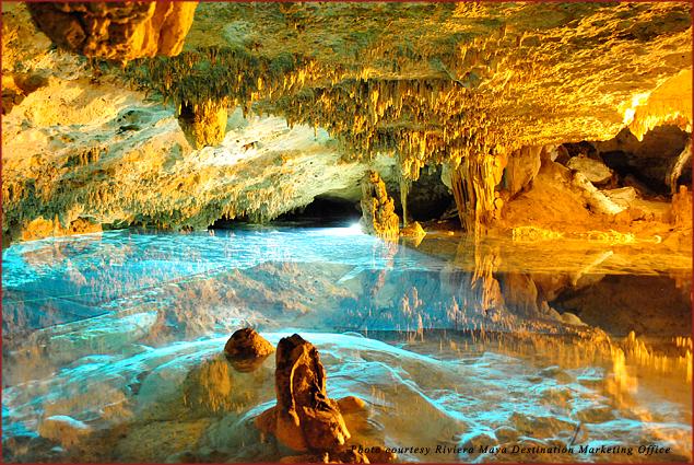 Underground river in Riviera Maya