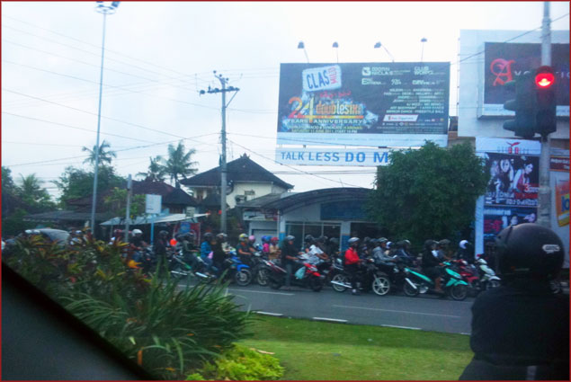 When we first arrived in Bali, we were shell-shocked by the erratic driving by both the cars and the motorbikes
