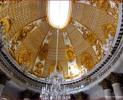 Ceiling at Sanssouci Palace in Potsdam