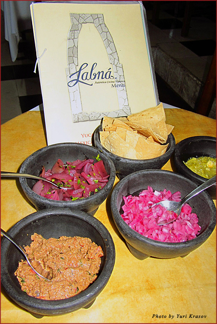 Yucatan delicacies at Labna restaurant in Cancun