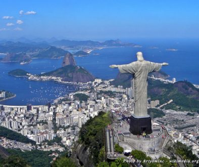 The famous statue of Christ the Redeemer looks over Rio de Janeiro