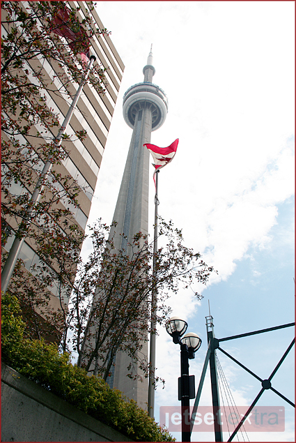 One of the modern seven wonders of the world, the CN Tower in Toronto, Canada