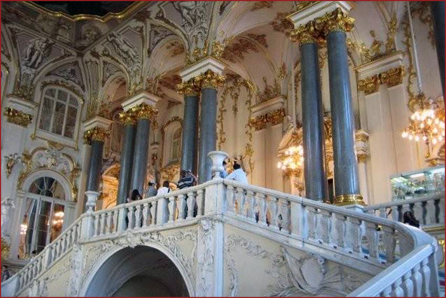 Here is the grand staircase in The Hermitage