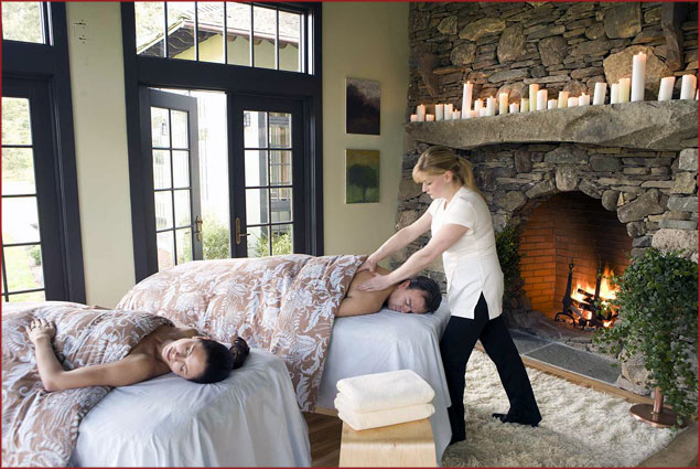 Couples' massage at Winvian