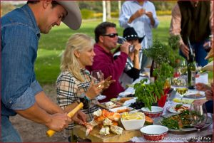 Can't complain about a Santa Barbara picnic with fresh-caught seafood and local wine