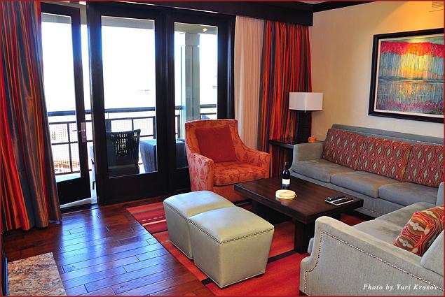 Living room at Ritz-Carlton Club Lake Tahoe