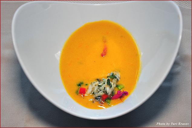 Yellow tomato gazpacho by Chef Ramos