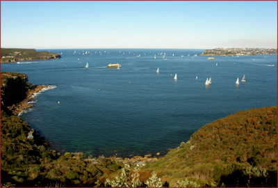 In Sydney Harbour National Park, the view transforms from scenic coves and beaches to stunning panoramas of Sydney Middle Harbour and Heads