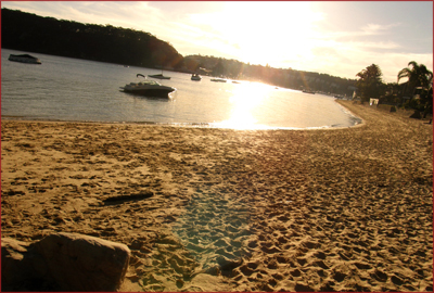 The final kilometres of the Manly to Spit Walk are on the sand, paralleling Clontarf Beach