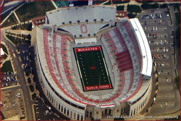 Ohio Stadium, home of the Ohio State Buckeyes football team