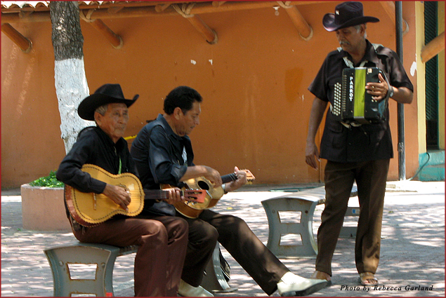 Musicians play on the street in Zihuatanejo