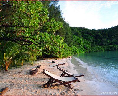 Carp Island beach, Palau