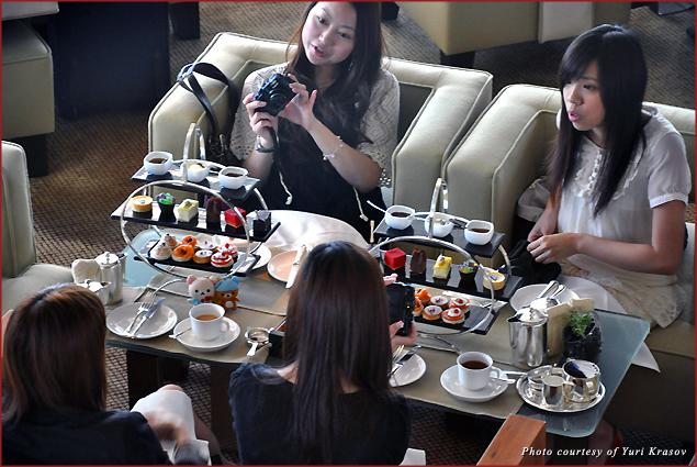 Tea service in a Hong Kong hotel