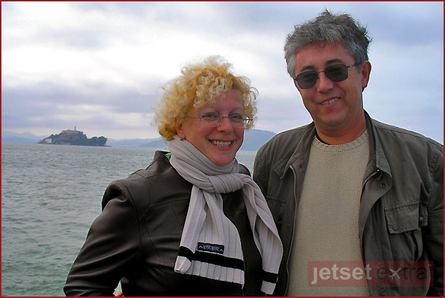 Emma and Yuri on a San Francisco Bay cruise