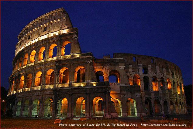 The Colosseum is enchanting at night