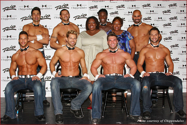 The Chippendales dancers, my mother and I...awkward