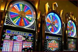 Wheel of Fortune in the VIP slot room