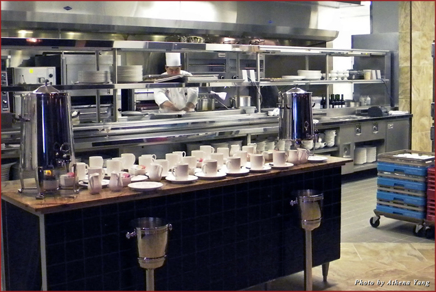Open kitchen at RWPrime