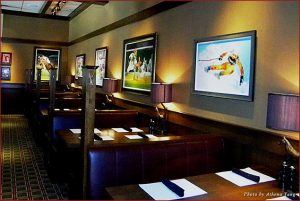 Interior of the BlackFinn American Grille in Houston, Texas