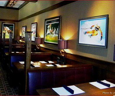 Interior of the BlackFinn American Grille in Houston, Texas