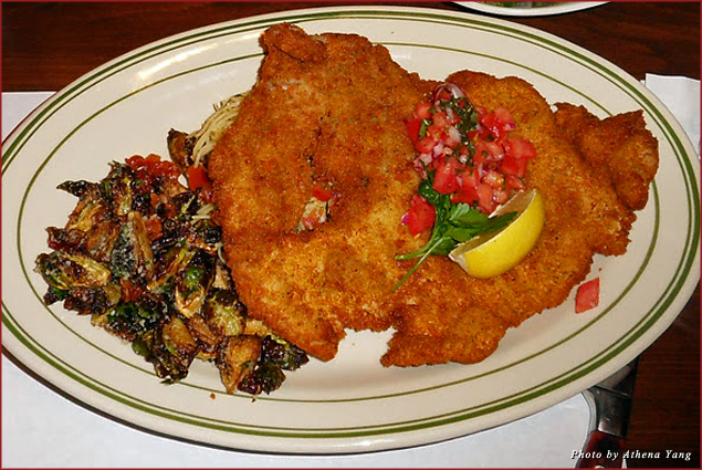 Everything is bigger in Texas - the pan-fried pork is big enough for two