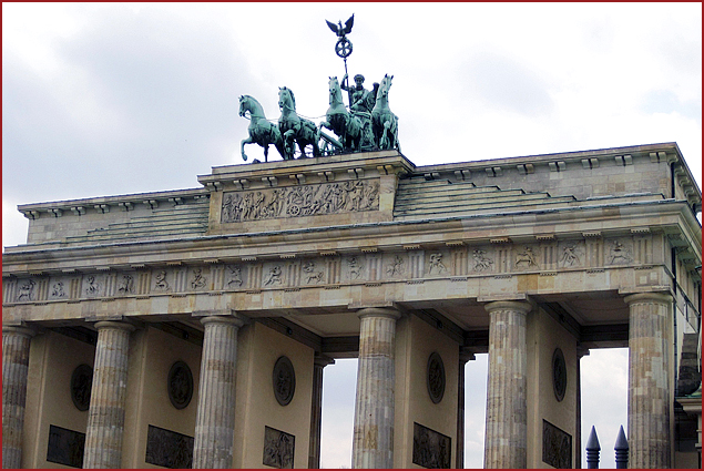 Brandenburg Gate is rich with history from all decades