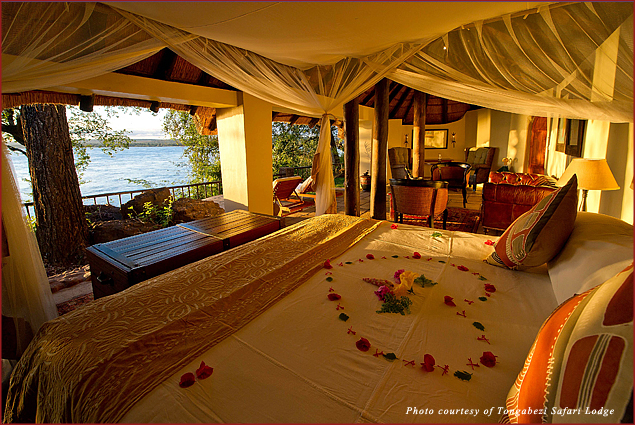 The Honeymoon House at the Tongabezi Safari Lodge near Victoria Falls is one of the most romantic places on earth