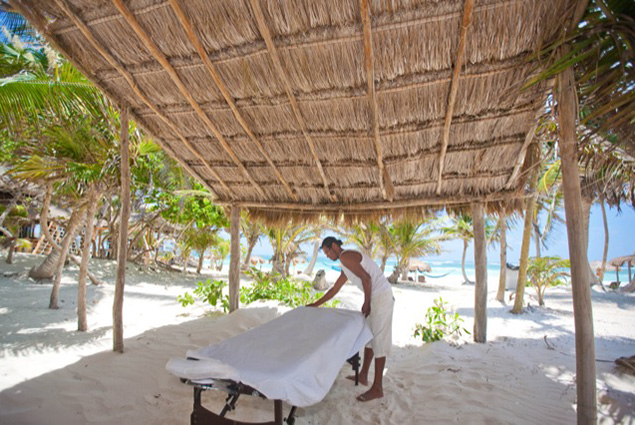 Hands On: Massage on the beach, anyone?