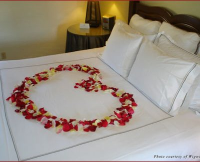 Rose petal turndown service during your Wigwam Resort experience