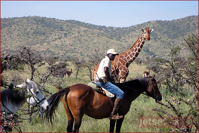 Horseback riding on Borana Ranch