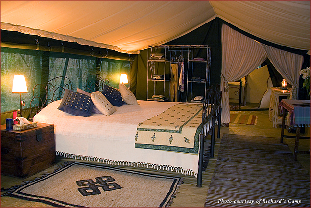 Luxury tent at Richard's Camp