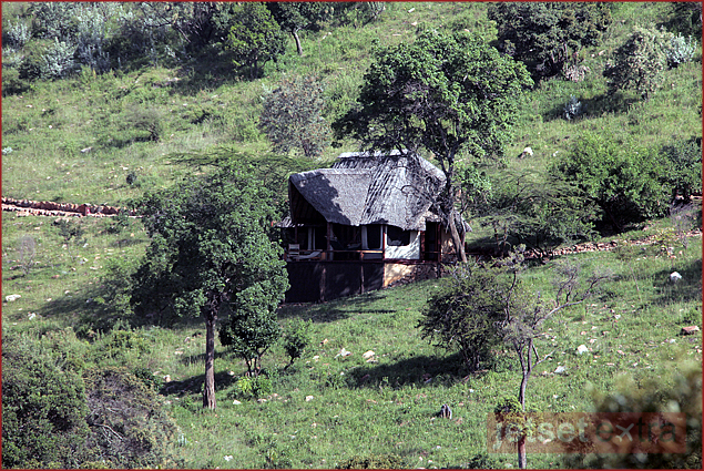 Our mountainside cottage at Saruni in Kenya's Masai Mara