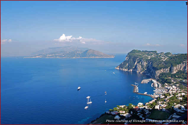 The isle of Capri in Naples, Italy features breathtaking views