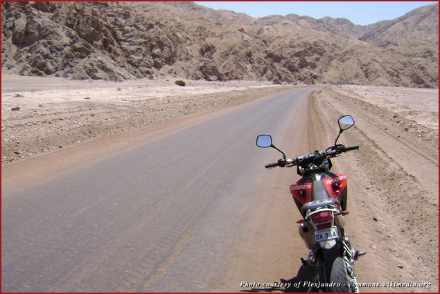 Think about renting a motorcycle this spring and touring the desert