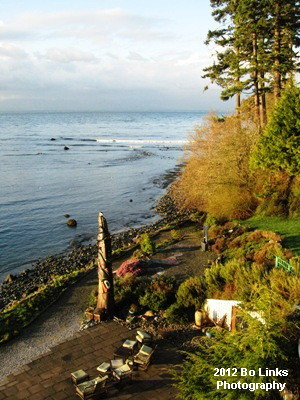 The view from Sooke Harbour House