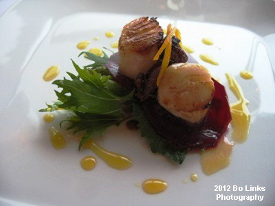 Luscious scallops at Markus' Wharfside Restaurant