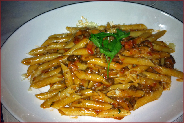 Penne Bolognese - Penne with ground veal in a Bolognese sauce