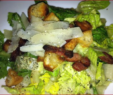 Vinaigrette Caesar - Caesar with smoked bacon, sourdough croutons, and preserved lemon