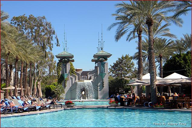 The pool area at The Arizona Biltmore