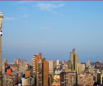 The famous Johannesburg skyline
