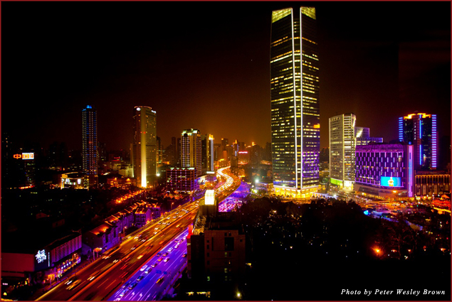 View of Shanghai from the PuLi Hotel and Spa