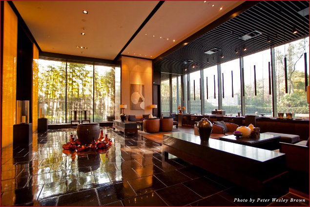 The lobby at the PuLi Hotel and Spa