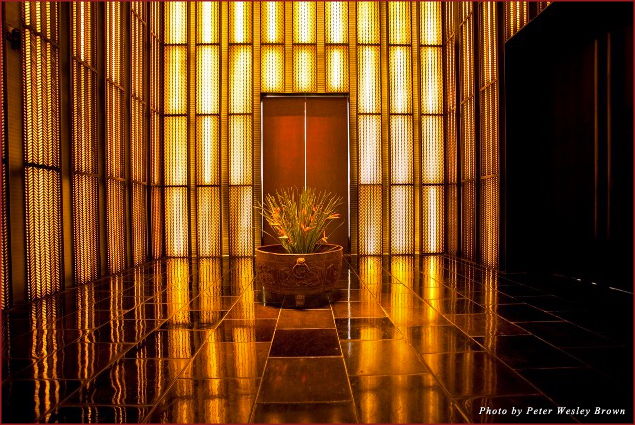Elevator lobby at the PuLi Hotel and Spa
