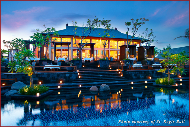 The Exterior of Kayuputi, the restaurant at the St. Regis Bali