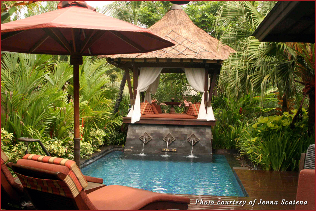 Lagoon Villa Private Pool at the St. Regis Bali