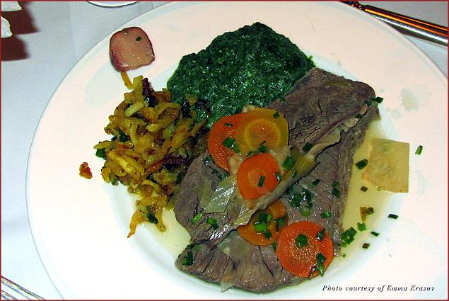 Tafelspitz at Zum Schwarzen Kameel restaurant in Vienna